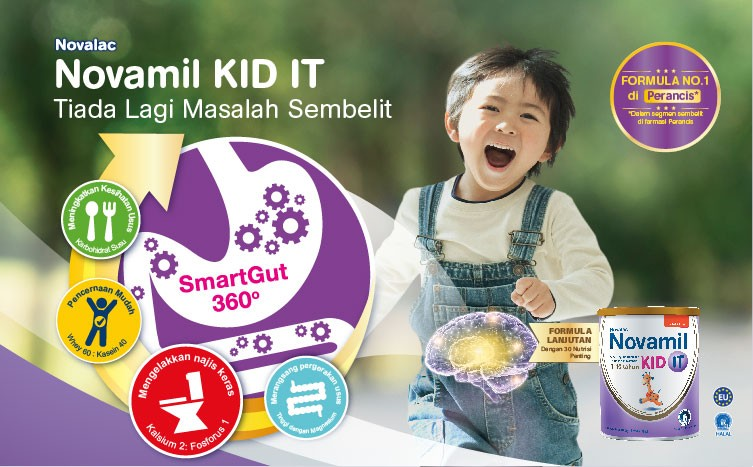 Novamil KID IT. Great development for your child begins in the gut
